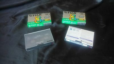 Fuji 8mm Hi8 8mm Blank Video Tapes with Head Cleaning Tape