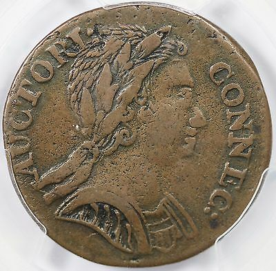 1785 M 6.3-G.1 R-5 PCGS VF 30 Bust Right Connecticut Colonial Copper Coin