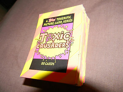 Toxic Crusaders- Complete Trading Card Set-88 cards- TOPPS- *RARE* Toxic Avenger