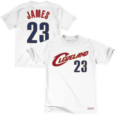LeBron James Cleveland Cavaliers Mitchell & Ness NBA Player T-Shirt - White