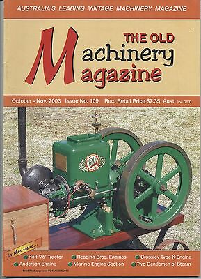 The Old Machinery Magazine TOMM  issue 109 October-November 2003