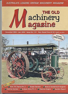 The Old Machinery Magazine TOMM  issue 110 December 2003-January2004