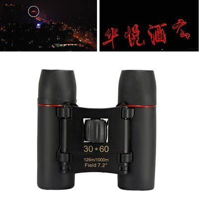 30x60 Mini Zoom Outdoor Binoculars Folding Day And Night Vision Telescopes EA