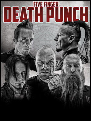 "002 FIVE FINGER DEATH PUNCH - Ivan Moody Metal Rock Band 24""x32"" Poster"
