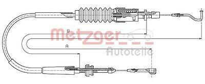 Metzger Throttle Cable - Cofle 14.4305