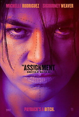 "002 The Assignment - Michelle Rodriguez USA Action Movie 24""x35"" Poster"