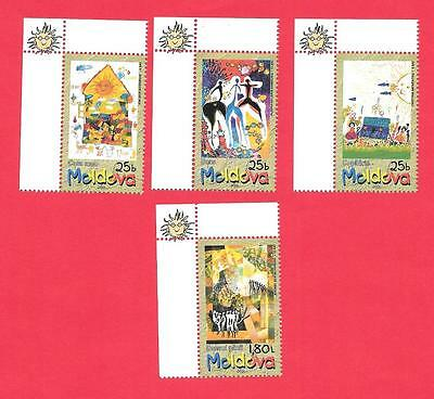 "2001 Moldova "" Children's Day "" Set Of 4 ~ Colorful ~  Muh Cheap @ $2.00"