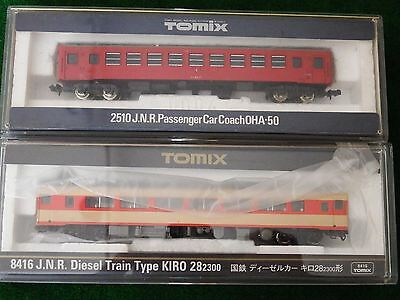 N scale Tomix Two Passenger Wagons, NEW (51)