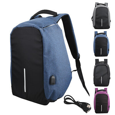 Business Laptop USB Charging Port Anti-Theft Backpack Travel School Rucksack Bag