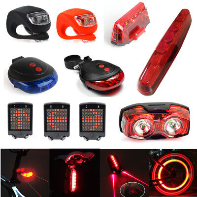 Waterproof Bicycle Bike Front Rear Tail Light Lamp LED USB Rechargeable Safety