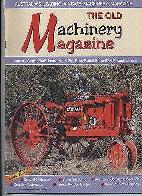 The Old Machinery Magazine TOMM  issue 120 August-September 2005