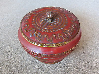 Chinese Antique Wooden Basket