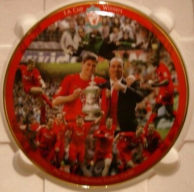 """Liverpool Fc Plate By Danbury Mint (Rob Perry) 8"""" Fa Cup Winners Plate 2006"""
