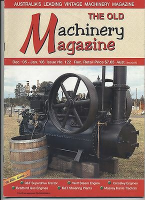 The Old Machinery Magazine TOMM  issue 122 December 2005-January 2006