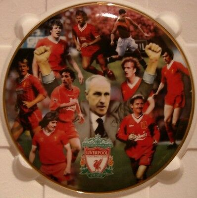 """Liverpool Fc Plate By Danbury Mint (Rob Perry) 8"""" Liverpool Legends"""