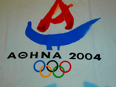 VTG NWOT 2004 Athens Olympics T-SHIRT DS Mens XL MADE IN GREECE SUPREME QUALITY