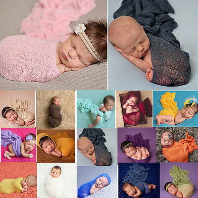 Infant Newborn Baby Crochet Wrap Cocoon Swaddle Cloth Photography Photo Props