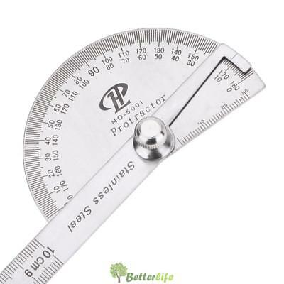 Stainless Steel 180 ° Protractor Angle Finder Rotary Measuring Ruler UK