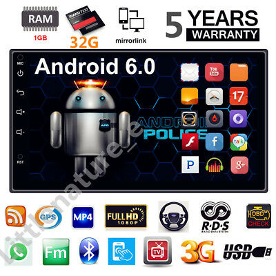 "32G ROM 7"" Android AUTORADIO WIFI 2DIN Auto Touch Screen Player GPS Bluetooth"