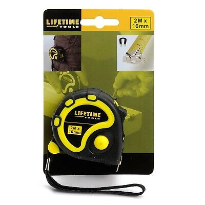 Lifetime Tools 34115 Tape Measure Rubber/Magnetic Tip with Belt clip 2 m x 16...