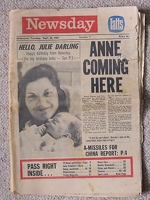 MELBOURNE NEWSDAY 30/9/69: Issue No 1