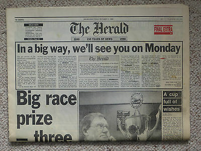 Melbourne HERALD Fri 5/10/90: Final Issue