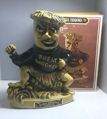 "Vintage Ezra Brooks ""Wheat Shocker"" Wichita State Decanter 1971"