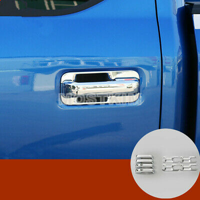 For Ford F150 F-150 4dr  ABS Chrome Car Door Handle Trim Cover 12pcs 2015-2019