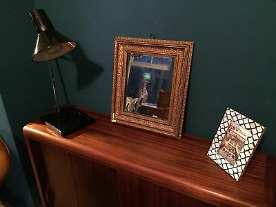 Small Antique Wall Mirror In Gold Frame