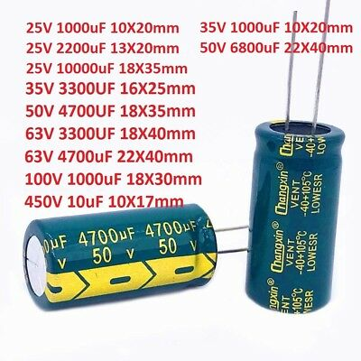 35V/50V/63V High Frequency Radial Electrolytic Capacitors 3300uF 4700uF