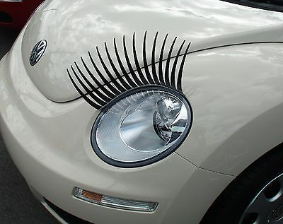 MsCara Eyelashes for cars with Free Eyeliner Bling (1 Pair) - Great Gift Idea