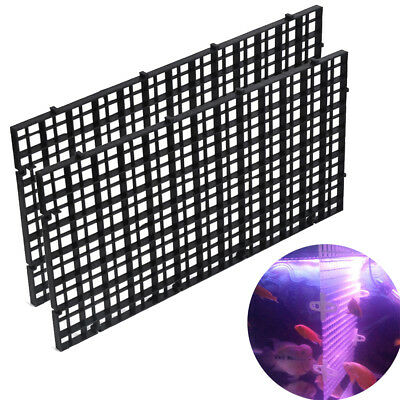 30*15 cm Aquarium Eggcrate Grid Divider Isolate Filter Tank Bottom Isolate 2pcs