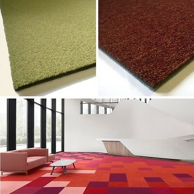 Desso CARPET TILES Palatino Stratos Red Green SOUNDMASTER Backing Hard Wearing