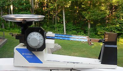 Vintage Fisher Scientific Weight Scale Model 720 Gram Beam Scale