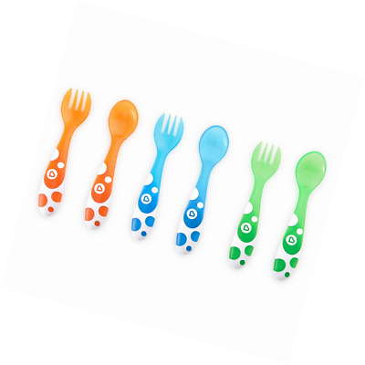 Munchkin Toddler Kids Forks and Spoons - Multi-Coloured, Pack of 6