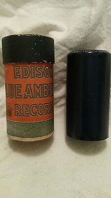 Vintage Edison Blue Amberola Cylinder very rare #28195.Good condition,Free post.