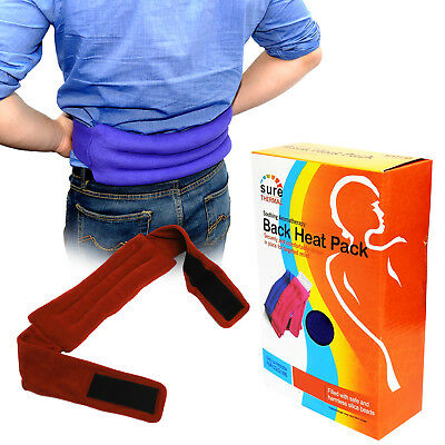 Sure Thermal Heat Pack Belt, Lower Back Pain Relieve Relaxing Heat Pack, Red x 2