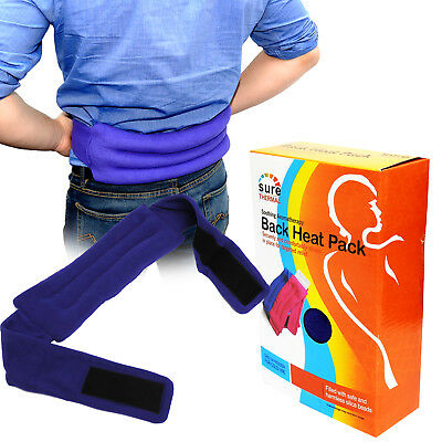 Sure Thermal Re-usable Hot Cold Lower Back Body Heat Pack Belt Blue Twin Pack
