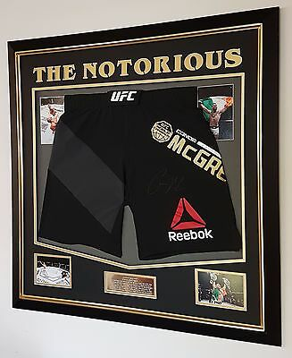 *** RARE CONOR MCGREGOR SIGNED Shorts Trunks Autograph Display ***
