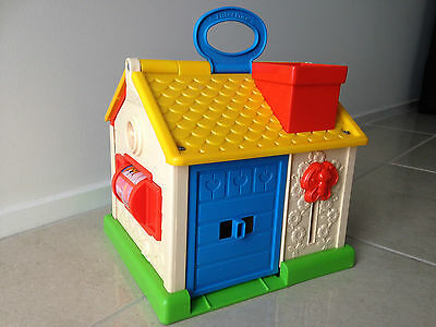 Vintage 136 Fisher Price RETRO 1984 House Discovery Cottage Jumbo Little People