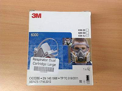 Half Face Respirator Genuine. Made In Poland, 3M 6300 (Large)