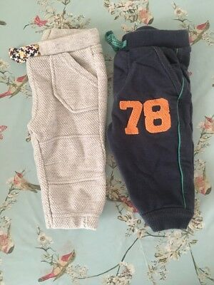 X2 Pairs Of Joggers 3-6 Months