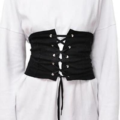 Women Lady Adjustable Elastic Wide Corset Tie High Waist Slim Abdominal Belt US