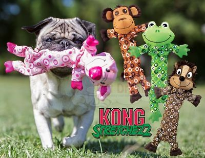 Kong Stretchezz - Interactive Dog Puppy Squeaky Tug Fetch Toy - Pull To Squeak!