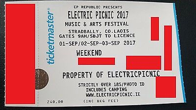 Electric Picnic Weekend Camping Ticket
