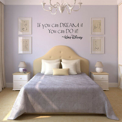 Inspiring Quotes Wall Stickers Home Art Decor Decals Mural Kid Room Removable