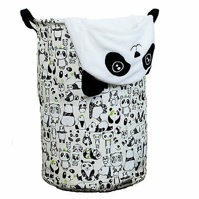 Laundry Hamper Basket for Kids with Panda Prints for Boy or Girls Room, Baby as