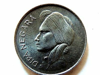 1955 Indonesian Fifty (50) Sen Coin