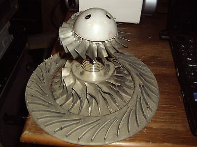 Turbine jet engine  front fan,impeller and stator. Titanium from KHD/BMW312