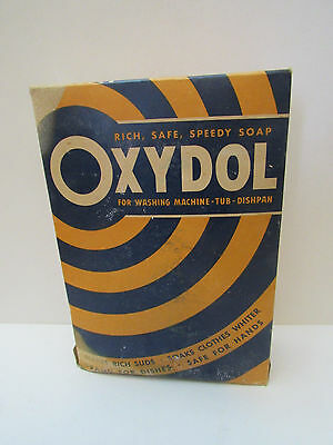 VINTAGE UNOPENED  Oxydol LAUNDRY SOAP DETERGENT BOX   Kitchen Decor